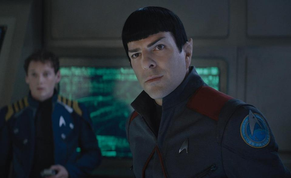 Will 2016's 'Star Trek Beyond' be the last we see of Zachary Quinto's Spock and co? (Credit: Paramount)