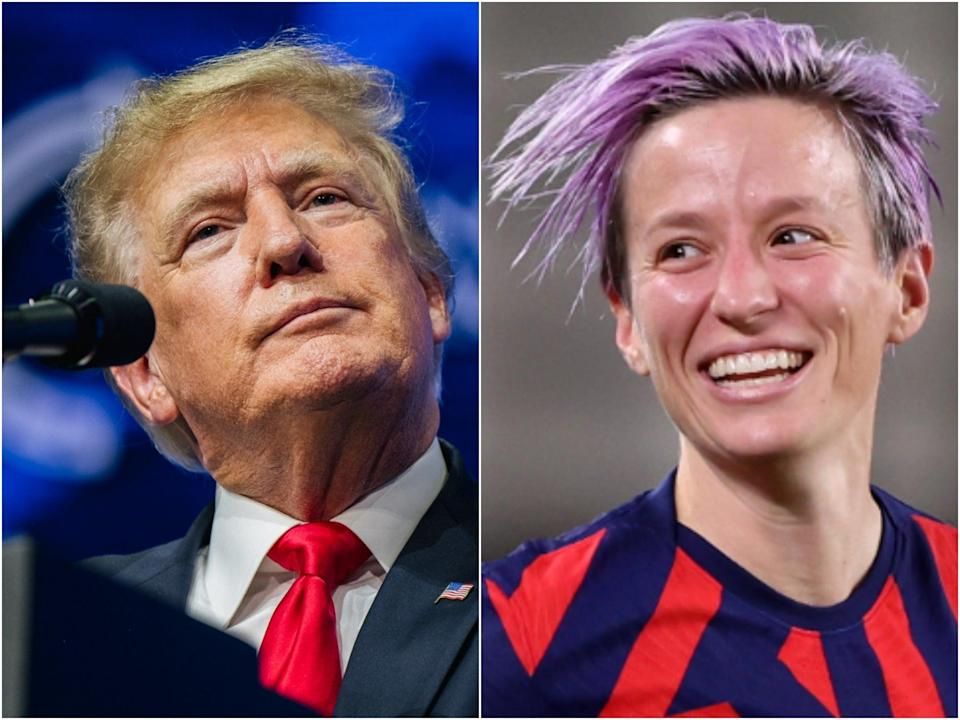 Former President Donald Trump went after the US women's soccer team and specifically called out Megan Rapinoe in a wild rant.  (Getty Images)