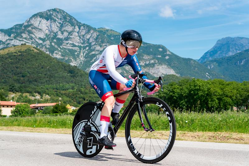 Katie Toft of Great Britain in action during the Women's C1 Individual Time Trial, last year. Pic: SWpix.com