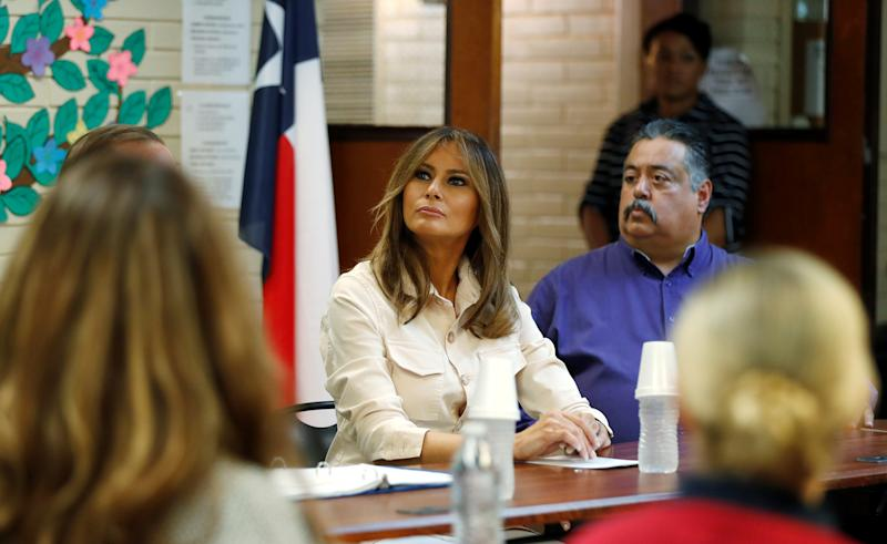 Melania visits detained immigrant children