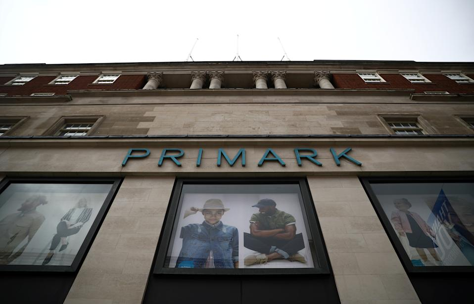 Signage is displayed outside a Primark store at the Oxford Street, in London, Britain July 2, 2020. REUTERS/Hannah McKay