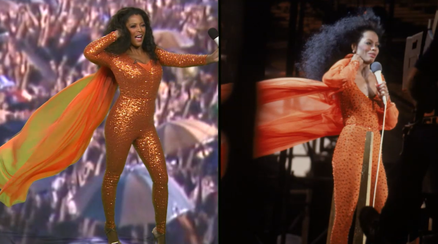 Tamron Hall as Diana Ross.