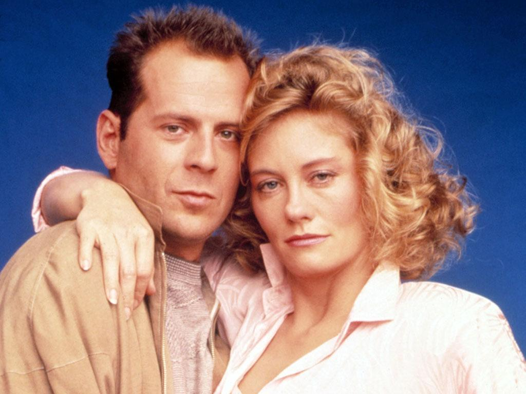MOONLIGHTING, Bruce Willis, Cybill Shepherd, Season 3, 1986-1987