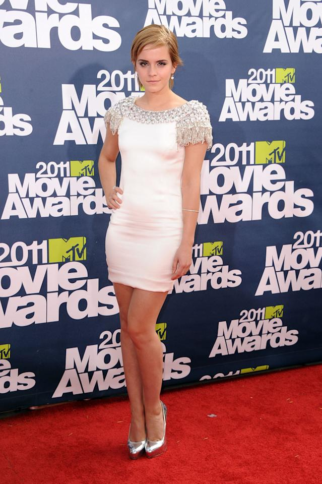 2011  MTV Movie Awards   Cranking-up the hotness factor for the MTV Awards, Emma's Marchessa mini puts her solidly in the babe category.
