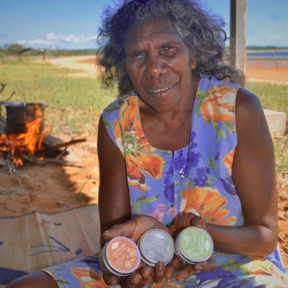 Started by a group of community elders and leaders, skincare company Bush Medijina's mission is to support Warningakalina women. Photo: Instagram/Bush Medijina