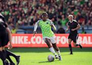 <p>Like the Super Eagles in 2018, Nigeria's women will wear a kit that's become an instant classic. The home kit pays subtle homage to Nigeria's '94 shirt (worn by Nigeria's first men's team to qualify — the Super Falcons have qualified for every tournament since 1991) with its eagle wing-inspired black-and-white sleeve and green torso. Those elements are supercharged through an abstracted feather pattern and hyper colours that extend a power capable of turning heads on and off pitch. </p>
