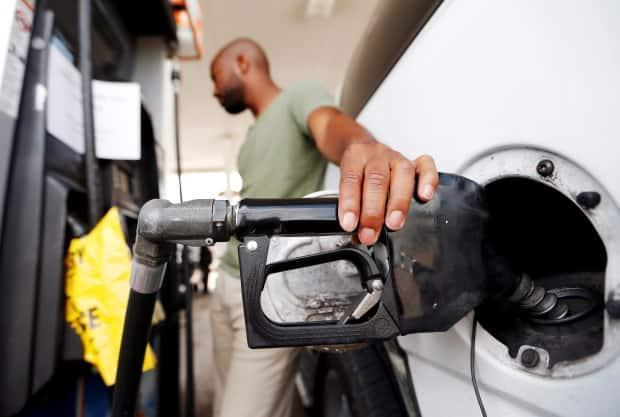 The price of gasoline has risen by more than a third in the past 12 months, according to Statistics Canada data. (Brandon Wade/Reuters - image credit)