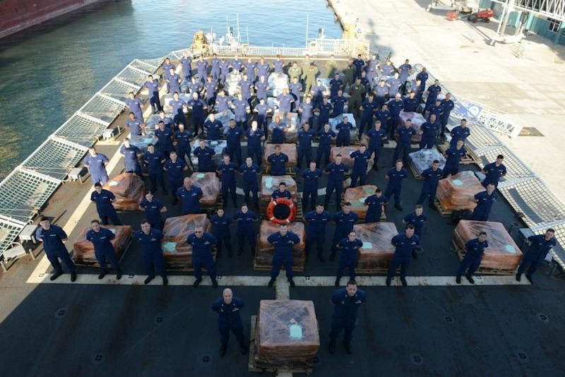 US Coast Guard cocaine drug seizure