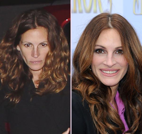 Julia Roberts: Do You Like Her Better With Or Without Makeup?