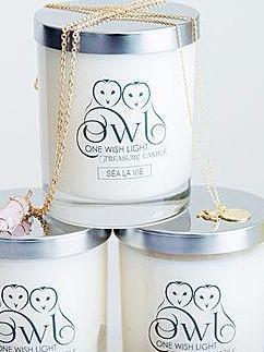 One Wish Light Treasure soy Candles.