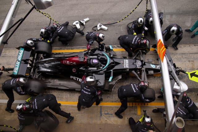 Mercedes pit stops were timed to perfection