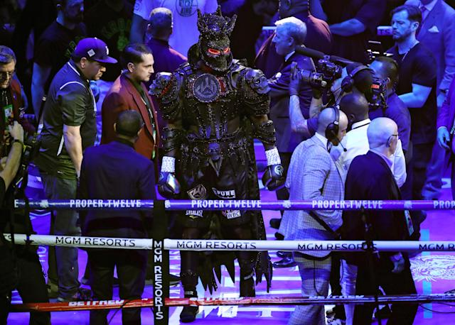 Frank Warren doesn't buy that Deontay Wilder's costumed played a role in Saturday's fight. (Bradley Collyer/PA Images via Getty Images)