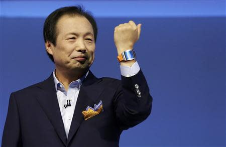 Shin President and CEO head of IT and Mobile Communication division of Samsung presents the Samsung Galaxy Gear smartwatch at IFA consumer electronics fair in Berlin
