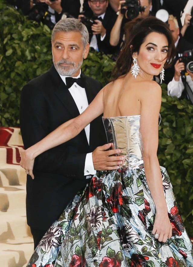 George and Amal Clooney at the Met Gala earlier this year. (Photo: Carlo Allegri/Reuters)