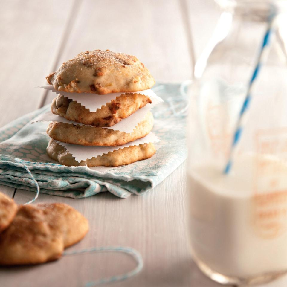 """This unexpected combination yields a fantastic, one-of-a-kind result. Opt for a savory bacon (as opposed to maple bacon) to get the most contrast between sweet and salty in every bite. <a href=""""https://www.epicurious.com/recipes/food/views/bacon-banana-cookies-369252?mbid=synd_yahoo_rss"""" rel=""""nofollow noopener"""" target=""""_blank"""" data-ylk=""""slk:See recipe."""" class=""""link rapid-noclick-resp"""">See recipe.</a>"""