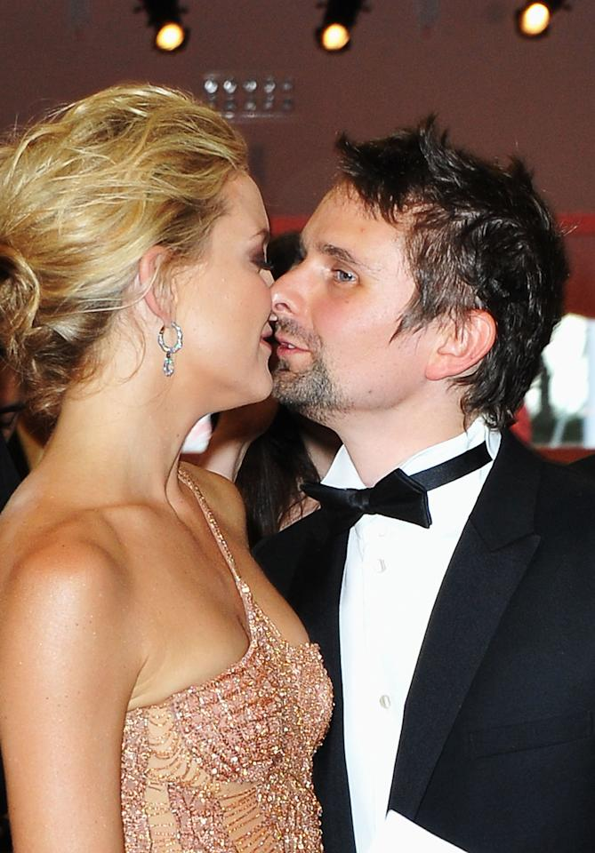 VENICE, ITALY - AUGUST 29:  Actress Kate Hudson and Matt Bellamy attend the Opening Ceremony of the 69th Venice International Film Festival at Palazzo del Cinema on August 29, 2012 in Venice, Italy.  (Photo by Pascal Le Segretain/Getty Images)