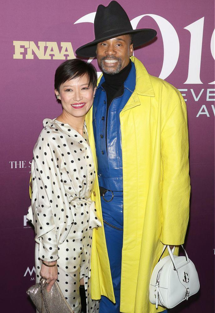 Sandra Choi (Jimmy Choo creative director and Footwear News Hall of Fame inductee) and Billy Porter