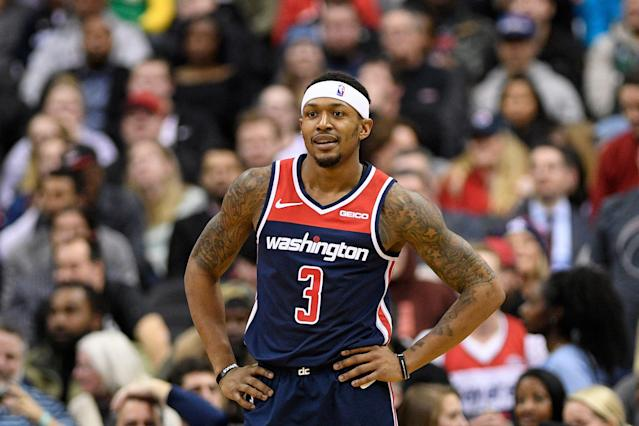 Washington Wizards guard Bradley Beal has been a fantasy stud, and could be a potential first-pick next season. (AP Photo/Nick Wass)