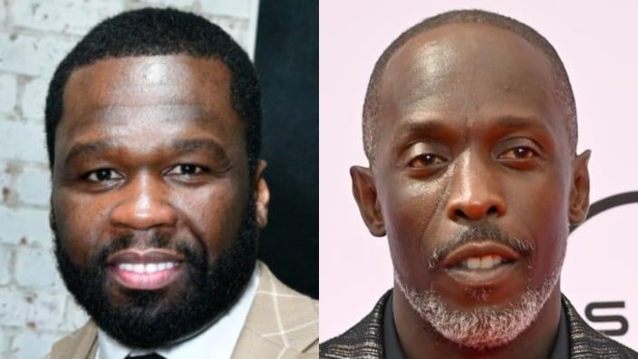 """Curtis """"50 Cent"""" Jackson (left) is being blasted for some insensitive social media posts about the death of acclaimed actor Michael K. Williams (right). (Photos by Eugene Gologursky/Getty Images for Haute Living and Paras Griffin/Getty Images for BET)"""