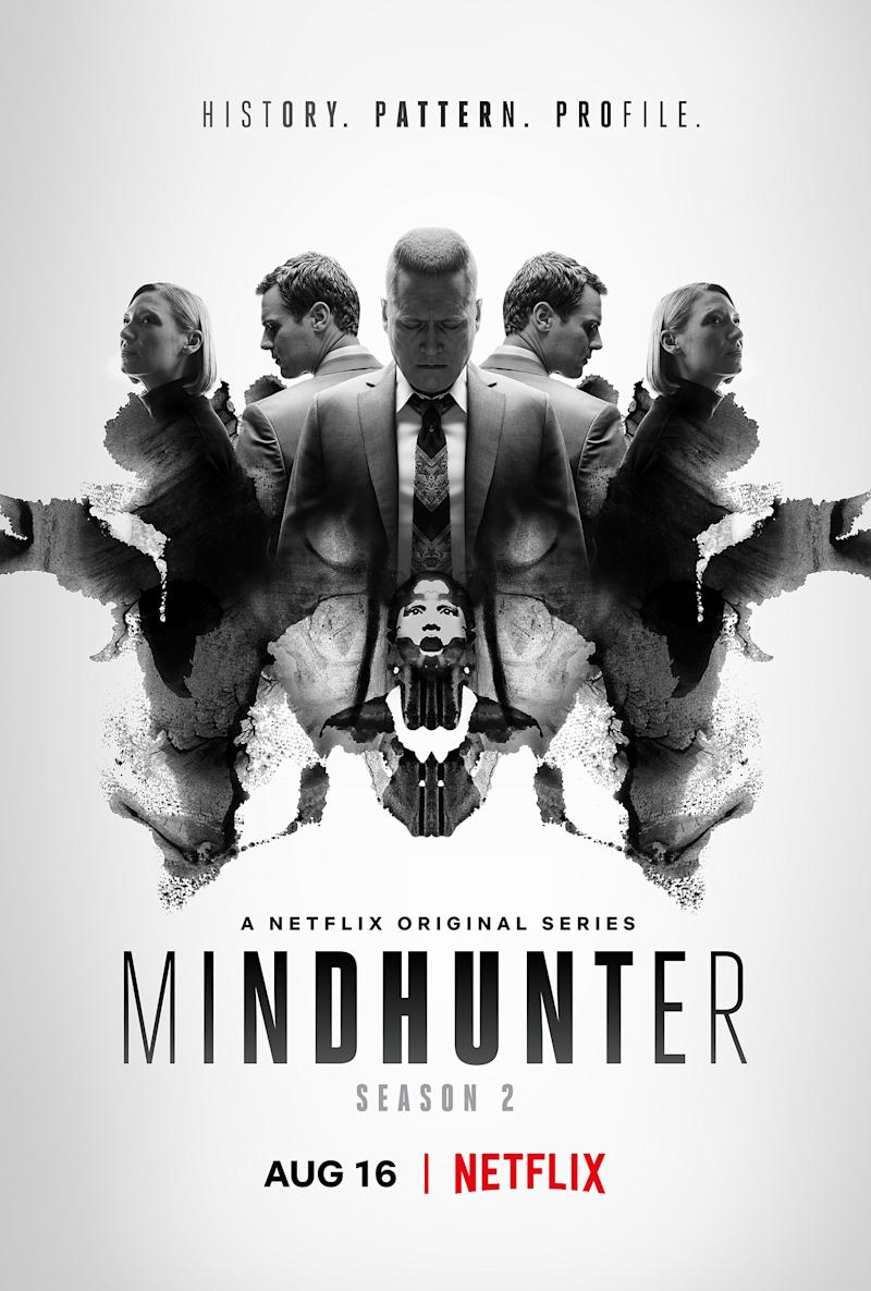 David Fincher's singular vision even extends to the posters for <i>MINDHUNTER</i> S2. (Netflix)