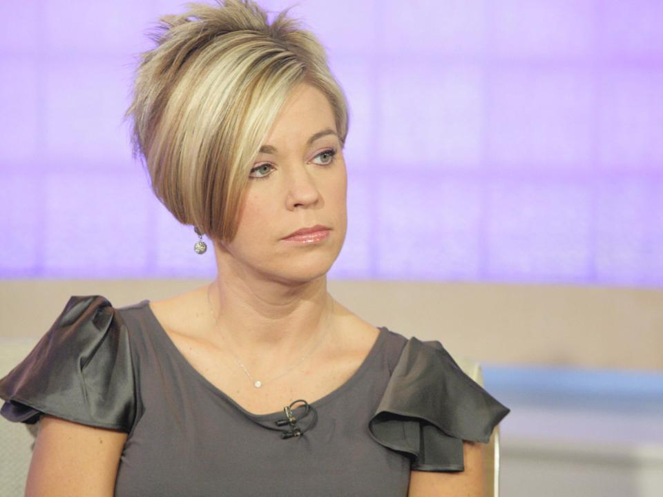 """Kate Gosselin appearing on NBC News with her infamous """"Karen"""" hairstyle in 2009."""