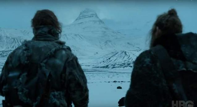 <p>The first property is a cabin in Kirkjufell, Iceland, right at the foot of the peak that doubles as Arrowhead Mountain.<br>(HBO) </p>