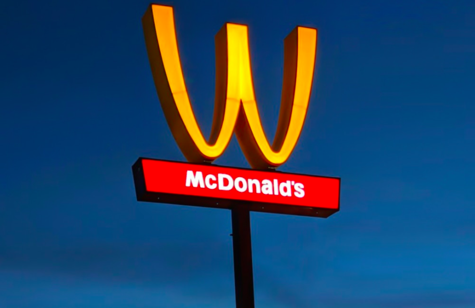 McDonalds is flipping its famous golden arches for International Women's Day [Photo: McDonalds]