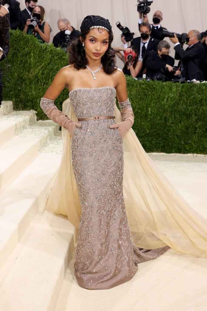 <p>The<em> Grown-ish</em> star looked like a Disney Princess on her wedding day in a look paying homage to Josephine Baker and how could we possibly object to that?</p>