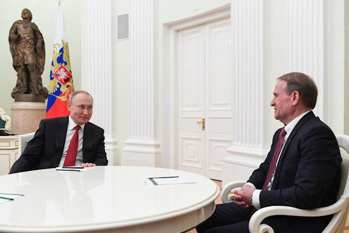 Russia: Russia's President Putin meets with Ukraine's Opposition Platform leader Medvedchuk