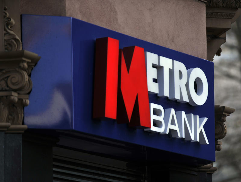Stock photo of Metro Bank in Tottenham Court Road, London.