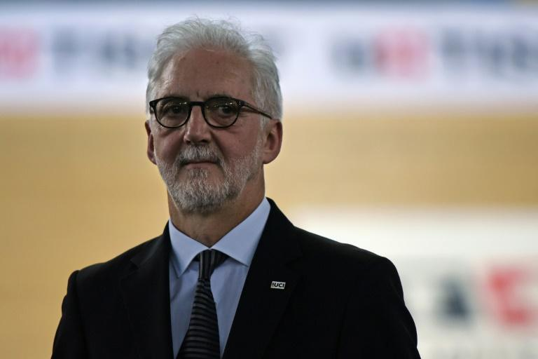 Brian Cookson, head of the UCI (Union Cycliste Internationale), seen during the fourth day of the 2017 Track Cycling World Championships, in Hong Kong