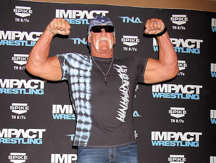 """<p>Former WWE wrestler Hulk Hogan was outspoken prior to the 2016 election and actually wanted to be his<a rel=""""nofollow noopener"""" href=""""https://www.independent.co.uk/news/people/hulk-hogan-wants-to-be-donald-trumps-running-mate-in-the-us-presidential-election-10477981.html"""" target=""""_blank"""" data-ylk=""""slk:running partner"""" class=""""link rapid-noclick-resp""""> running partner</a> when campaigning to be POTUS. He also appeared on Trump's Celebrity Apprentice from which he was fired from. (PA) </p>"""