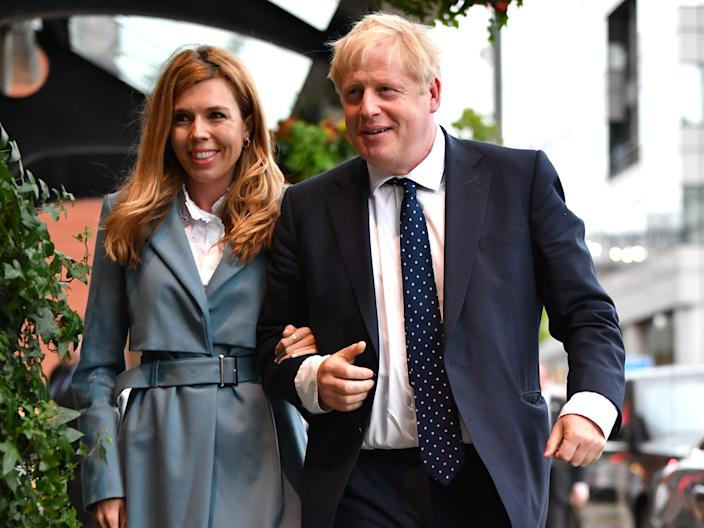 <p>Downing Street refused to comment on whether Boris Johnson and Carrie Symonds were married on Saturday</p> (Jeff J Mitchell/Getty Images)