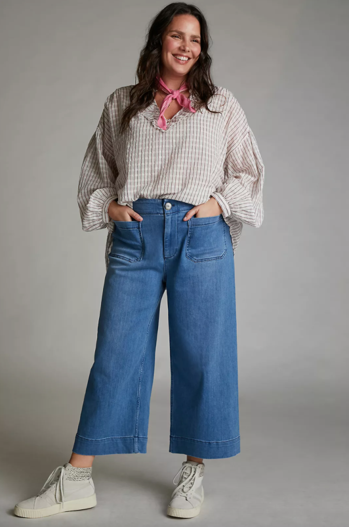 Pilcro Ultra High-Rise Wide-Leg Jeans (Photo via Anthropologie)