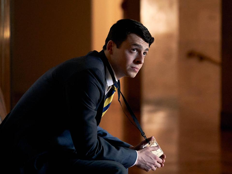 <p>Boyle as accused soldier Brian Wood</p> (BBC/Expectation TV/Robert Viglasky)