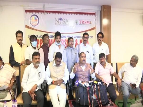 Press Conference of Managements of private schools of Andhra Pradesh (Photo/ANI)