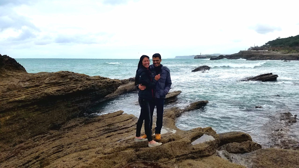 Lianne Anderson and boyfriend José Lucas Cordeiro in San Sebastián, Spain, in March 2017. The two met while studying abroad in Salamanca, Spain.