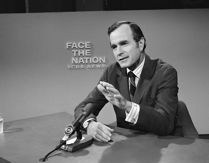"<p>George Bush appears on ""Face the Nation"" in Washington, D.C., on Sept. 14, 1973. (Photo: CBS Photo Archive/Getty Images) </p>"