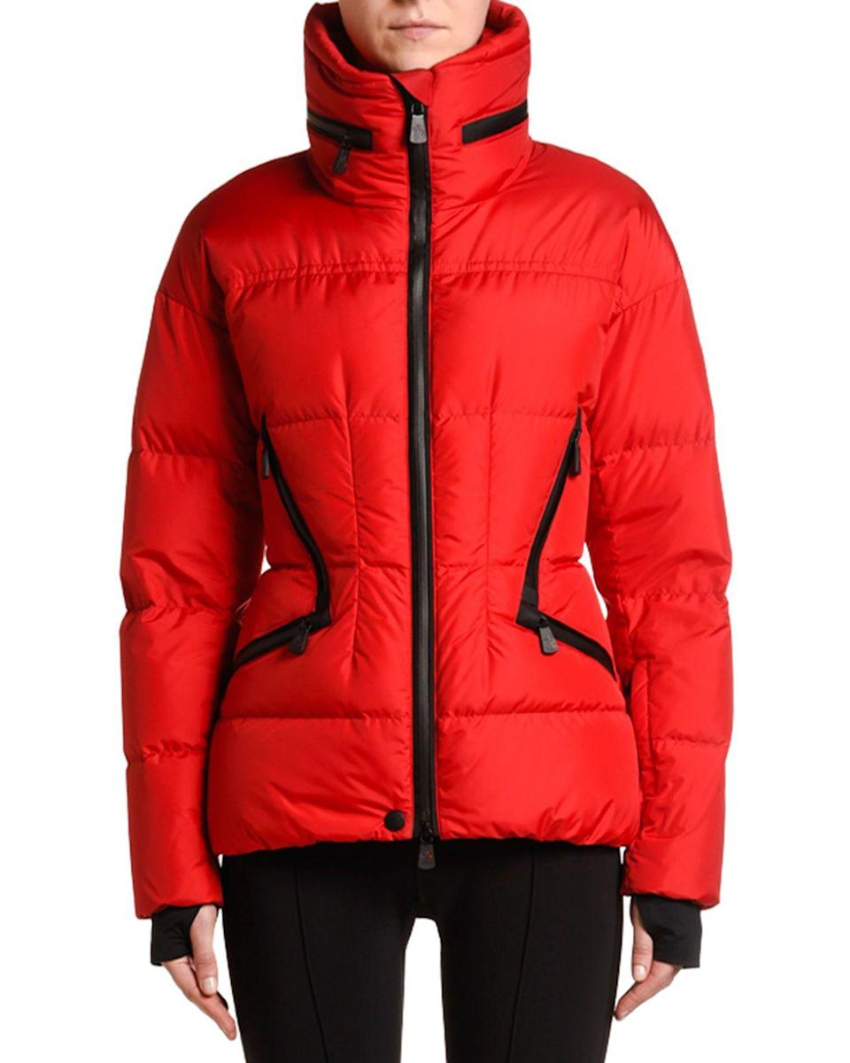 "<p><strong>Moncler</strong></p><p>neimanmarcus.com</p><p><strong>$1445.00</strong></p><p><a href=""https://go.redirectingat.com?id=74968X1596630&url=https%3A%2F%2Fwww.neimanmarcus.com%2Fp%2Fmoncler-stand-collar-puffer-coat-w-tucked-hood-prod222150844&sref=https%3A%2F%2Fwww.townandcountrymag.com%2Fstyle%2Ffashion-trends%2Fg13532208%2Fwhat-to-wear-skiing%2F"" rel=""nofollow noopener"" target=""_blank"" data-ylk=""slk:Shop Now"" class=""link rapid-noclick-resp"">Shop Now</a></p><p>This puffer is bright and cheerful—and sure to get you noticed on the slopes. </p>"