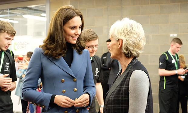 Kate with Judy Murray at the stadium