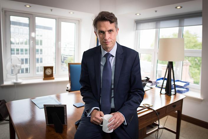 Gavin Williamson photographed in his office at the Department of Education after the crisis. (Getty)
