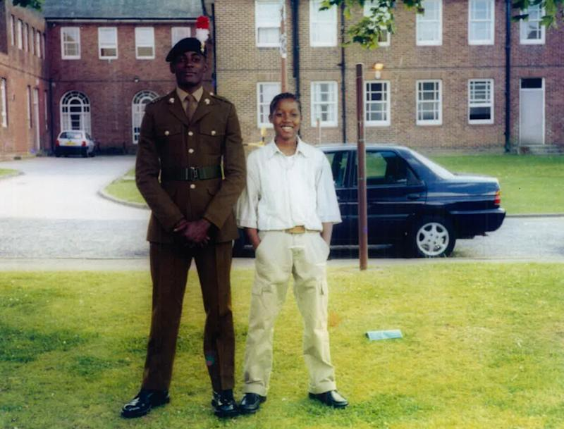 <strong>Chadwick and older brother Damion at his military graduation ceremony. Damion also arrived in the UK in 2002 and sadly died by suicide in 2018.</strong> (Photo: )