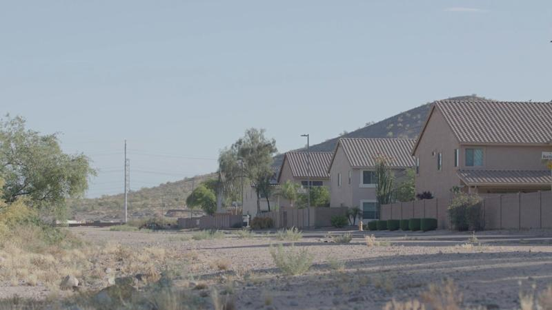 Homes in Phoenix, Arizona in the summer