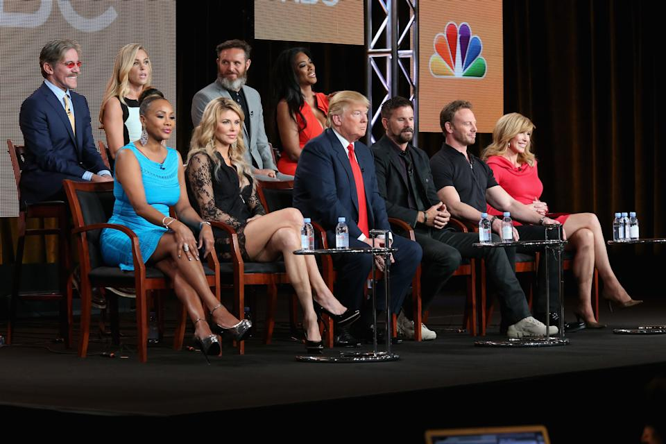 Geraldo Rivera and Donald Trump appeared together on <em>The Celebrity Apprentice</em> in 2015. (Photo: Getty Images)