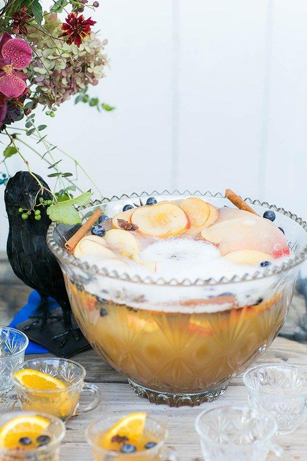 """<p>You don't have to wait until the sun goes down to get the (Halloween) party started. Host a daytime brunch party (<a href=""""https://www.oprahmag.com/life/food/g28099287/fall-cocktails/"""" rel=""""nofollow noopener"""" target=""""_blank"""" data-ylk=""""slk:pumpkin pie mimosas"""" class=""""link rapid-noclick-resp"""">pumpkin pie mimosas</a>, anyone?) and invite everyone to <a href=""""https://www.oprahmag.com/life/g27868790/best-friend-halloween-costumes/"""" rel=""""nofollow noopener"""" target=""""_blank"""" data-ylk=""""slk:come in costume"""" class=""""link rapid-noclick-resp"""">come in costume</a>. </p><p><em>Get this punch recipe at <a href=""""https://sugarandcharm.com/spiked-apple-cider-punch-recipe"""" rel=""""nofollow noopener"""" target=""""_blank"""" data-ylk=""""slk:Sugar And Charm"""" class=""""link rapid-noclick-resp"""">Sugar And Charm</a>. </em></p><p><strong><a class=""""link rapid-noclick-resp"""" href=""""https://www.amazon.com/Raye-Footed-Punch-Bowl-VISKI/dp/B07BL3QRK1/ref=sxin_3_ac_d_rm?tag=syn-yahoo-20&ascsubtag=%5Bartid%7C10072.g.28787574%5Bsrc%7Cyahoo-us"""" rel=""""nofollow noopener"""" target=""""_blank"""" data-ylk=""""slk:SHOP PUNCH BOWLS"""">SHOP PUNCH BOWLS</a><br></strong></p>"""
