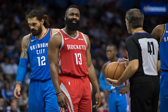 The pick that became Steven Adams went to OKC in Houston's deal for James Harden. (Reuters)