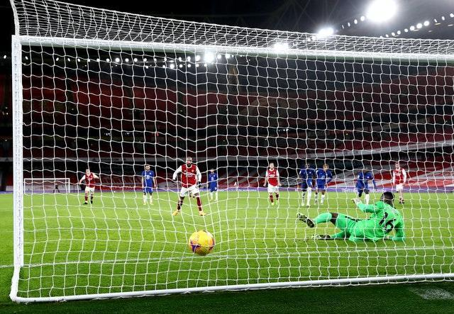 Alexandre Lacazette fired Arsenal in front from the penalty spot