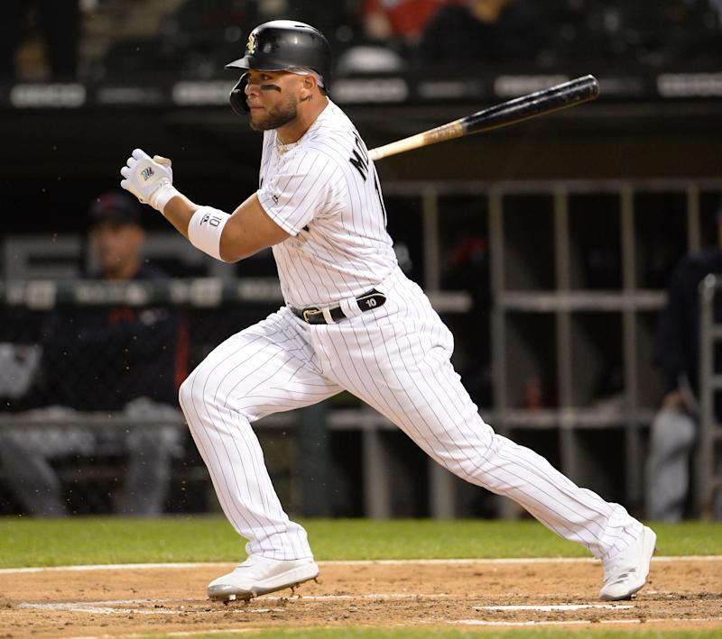 CHICAGO - SEPTEMBER 24: Yoan Moncada #10 of the Chicago White Sox bats against the Cleveland Indians on September 24, 2019 at Guaranteed Rate Field in Chicago, Illinois. (Photo by Ron Vesely/MLB Photos via Getty Images)