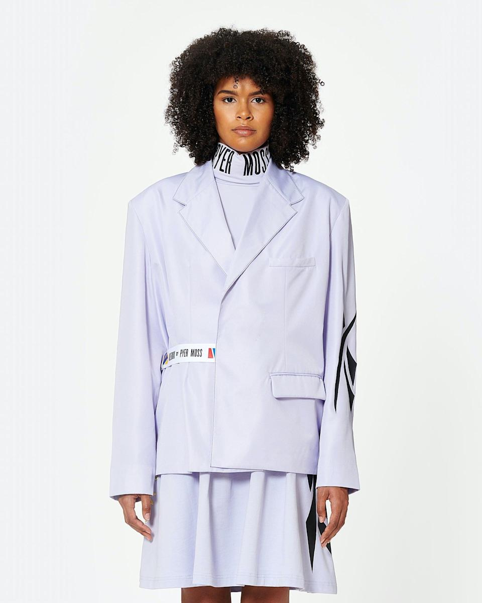 <p>This <span>Pyer Moss Wrapped Blazer</span> ($200) is bold, edgy, confident, and simply cool.</p>