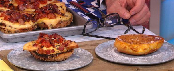 PHOTO: The hot brown bagel vs. the French toast-style bagel. (ABC News)